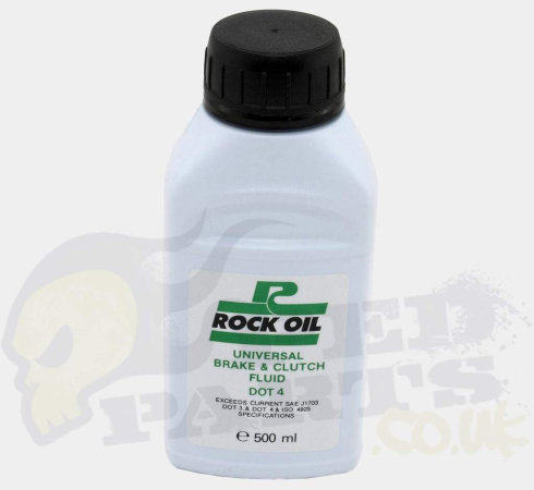 DOT 4 Brake and Clutch Fluid- Rock Oil