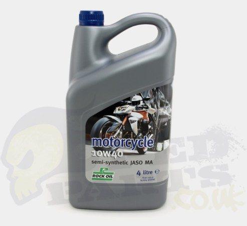 Motorcycle 10W40 Semi-Synthetic- Rock Oil